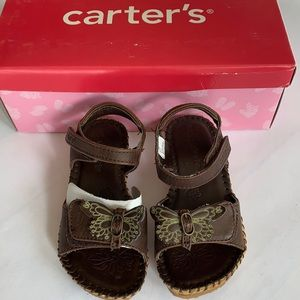 NWT Carter's Butterfly Toddler Sandal Size 8